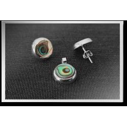 Abalone Earring & Pendant Set