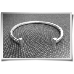 Rod Ended Cuff Bangle