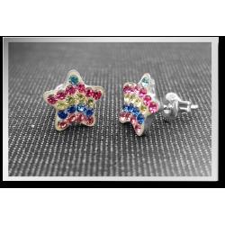 Sparkly Rainbow Star Studs