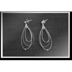 Ribbon Dangly Earrings