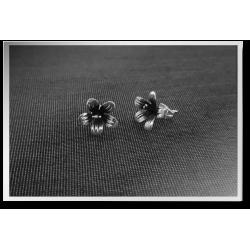 Oxidised Flower Studs
