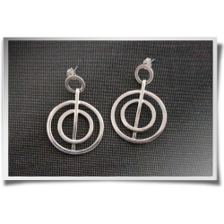 Round Dangly Earrings
