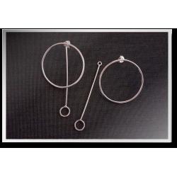 Circle and Pendulum Earrings