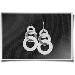 Flat Ring Dangling Earrings