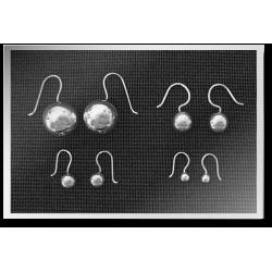 Tiny Dangling Ball Earrings