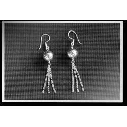 Dangly Ball & Chain Earrings