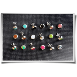 Small Round Coloured Studs