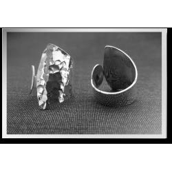 Asymmetrical Hammered Ring