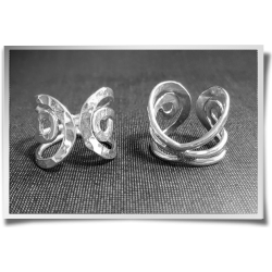 Hammered Curly Ring