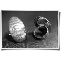 Oval Textured Ring