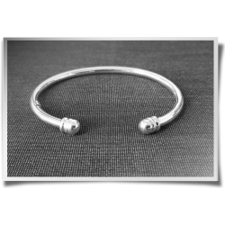 Ball Ended Cuff Bangle