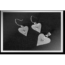 Texturised Heart Earring &...