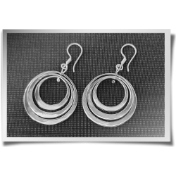 Swirly Circle Trio Earrings