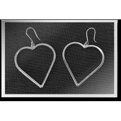 Tubular Heart Earrings