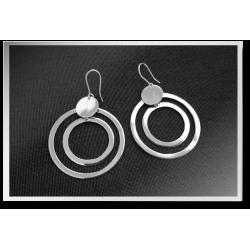 Twin Circle Dangly Earrings