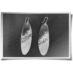 Large Hammered Oval Earrings