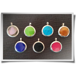 Round Coloured Pendant