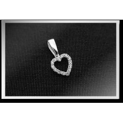 Zirconia Heart Pendant